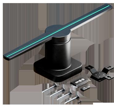 Peças para montar e fixar display holográfico